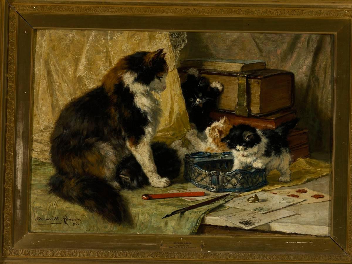 Henriëtte Ronner-Knip, Spelende katjes, 1897., G.F./Ivo Wennek