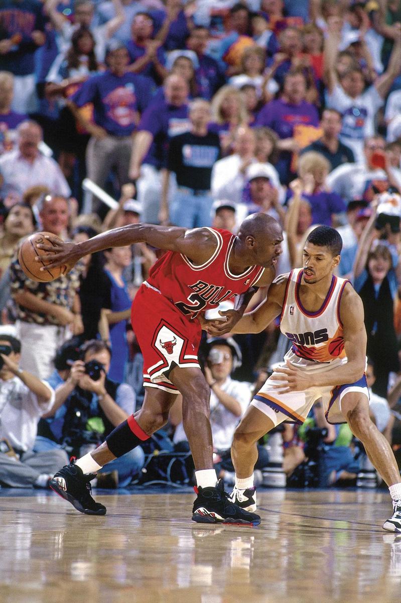 Michael Jordan lors des NBA Finals 1993, contre les Suns de Phoenix., GETTY