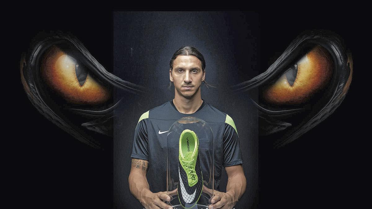 In een advertentie voor Nike. Het sportmerk speelde handig in op de Zlatanmania., BELGAIMAGE