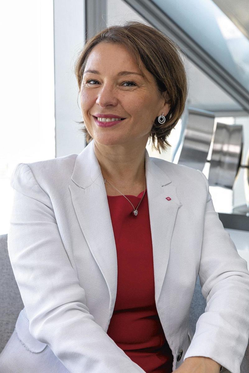 """Martine Klutz (Belfius): """"Certains clients nous demandent d'intervenir afin de mieux sécuriser leurs flux commerciaux."""", pg"""
