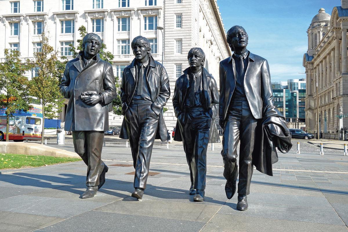 The Beatles, de muzikale iconen van de stad Liverpool., GETTY