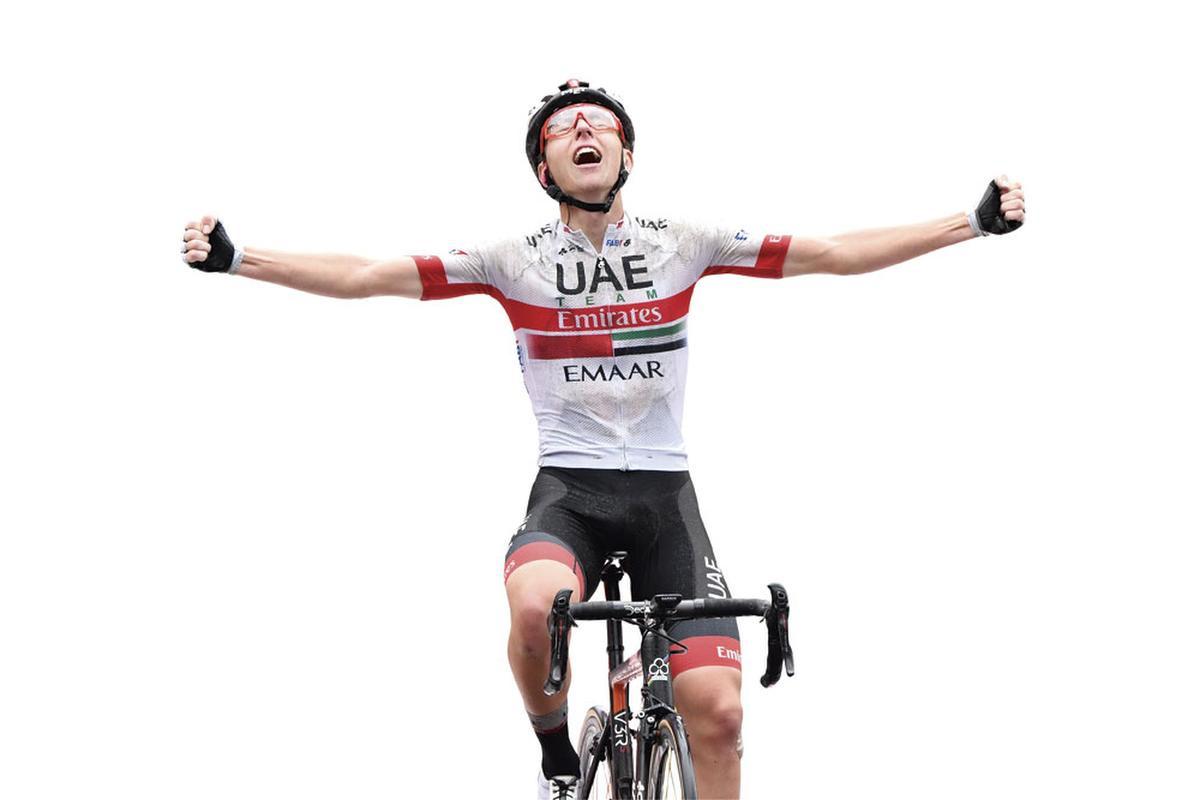 Tadej Pogacar werd derde in de Vuelta. Een jongere met ambitie., BELGAIMAGE