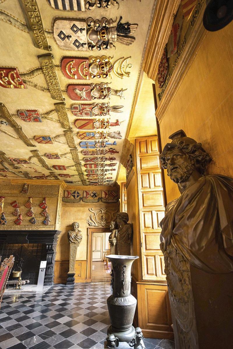 Een van de vele prachtige stucwerk plafonds, FRÉDÉRIC RAEVENS