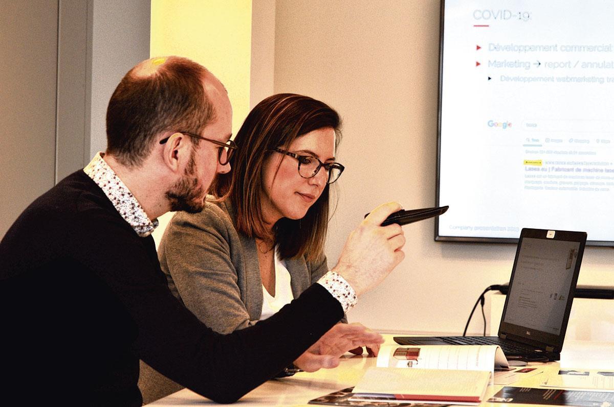"""Jean-Christophe Wauters et Violette Marbehant (Lasea): """"Heureusement, nous avons entrepris une démarche de diversification."""", pg"""