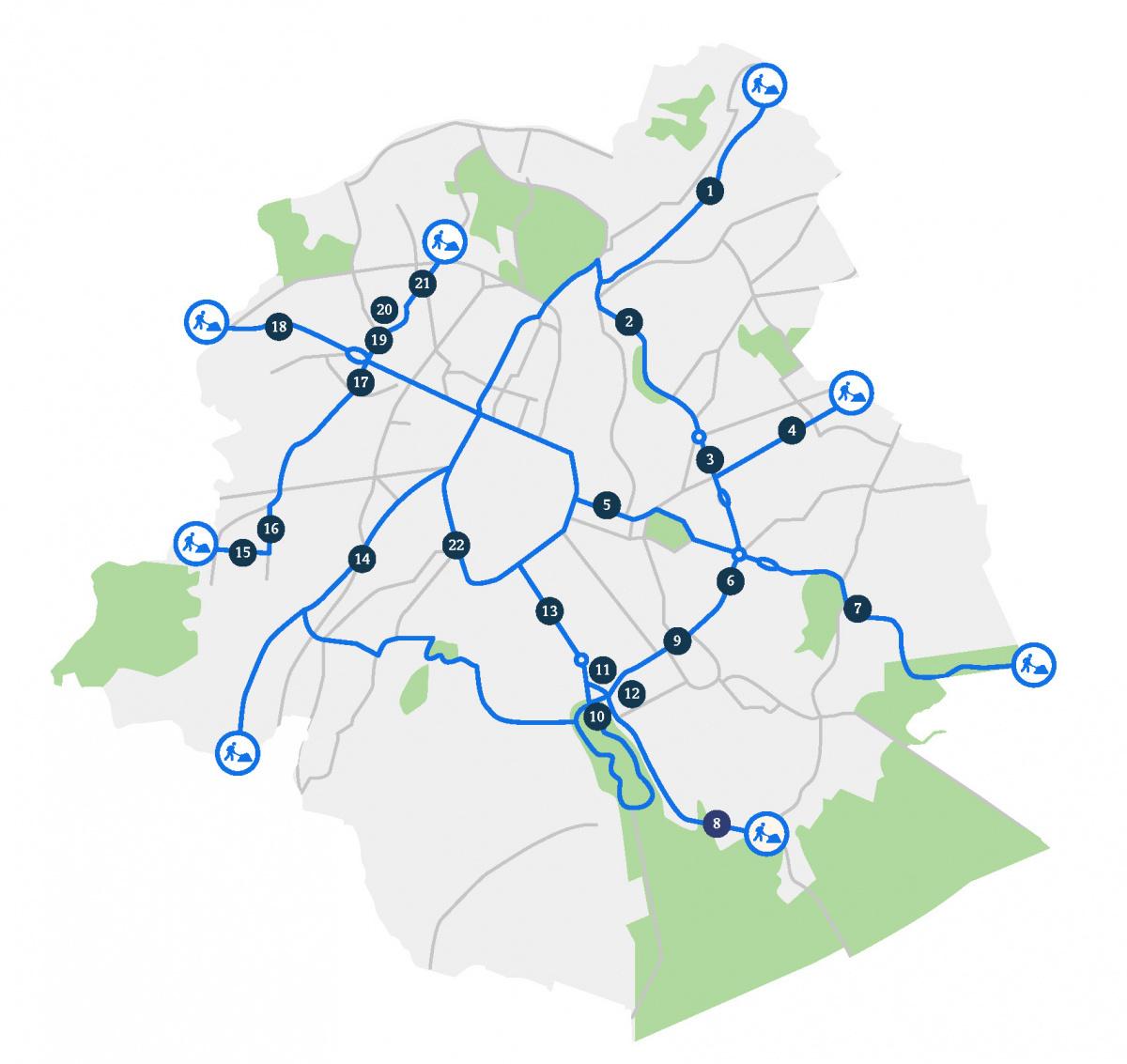 Chantier en cours pour la création de nouvelles pistes cyclables., Bruxelles Mobilité
