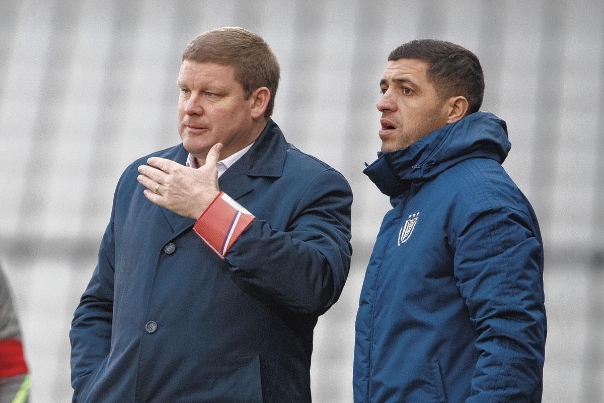 Avec Hein Vanhaezebrouck, à Anderlecht., BELGAIMAGE
