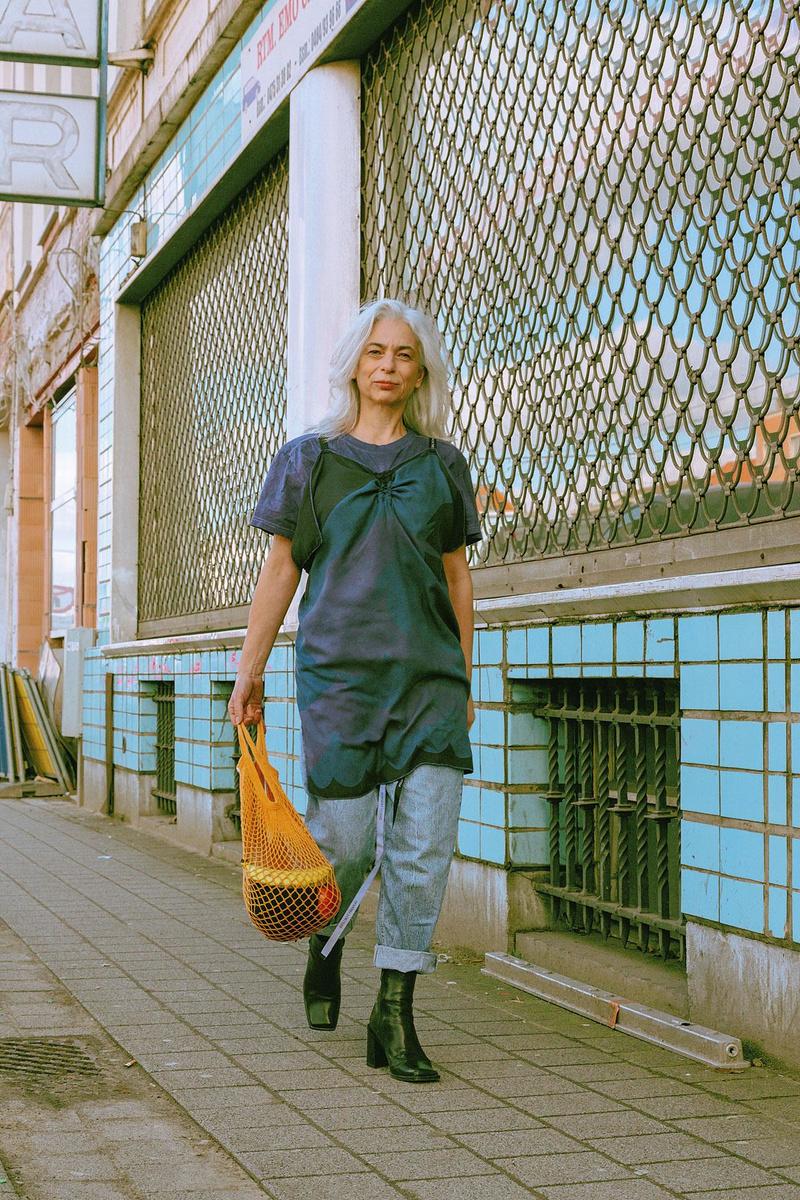 Pour le festival United Fashion, des créateurs ont imaginé une collection durable à partir de pièces de seconde main., Yaqine Hamzaoui