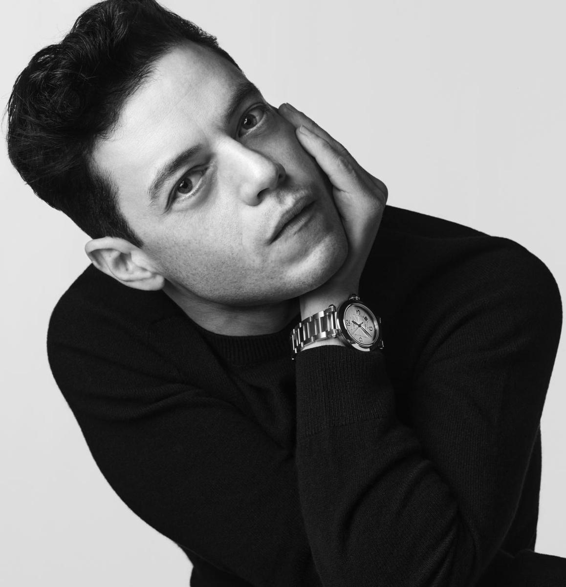 Een van de boegbeelden van de nieuwe Pasha-collectie is acteur Rami Malek., GF / Cartier