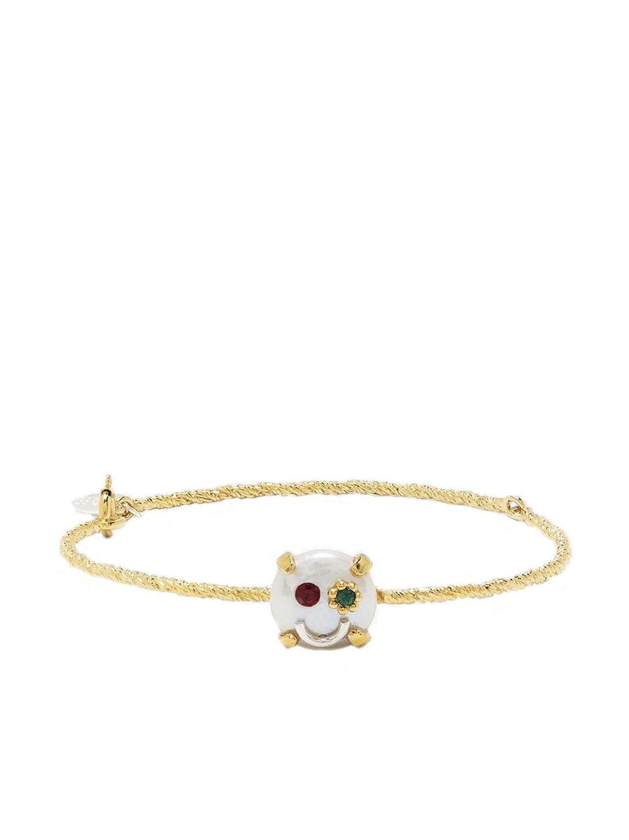 Bracelet en perle et cristaux, Wouters & Hendrix, 337 euros, farfetch.com, SDP