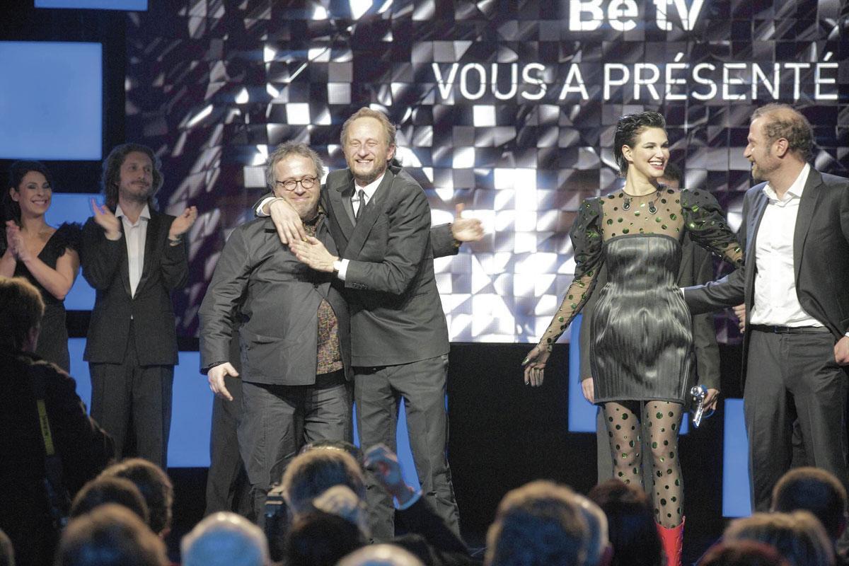 Jaco Van Dormael et Benoît Poelvoorde, parmi les inamovibles des Magritte., NICOLAS MAETERLINCK/belgaimage