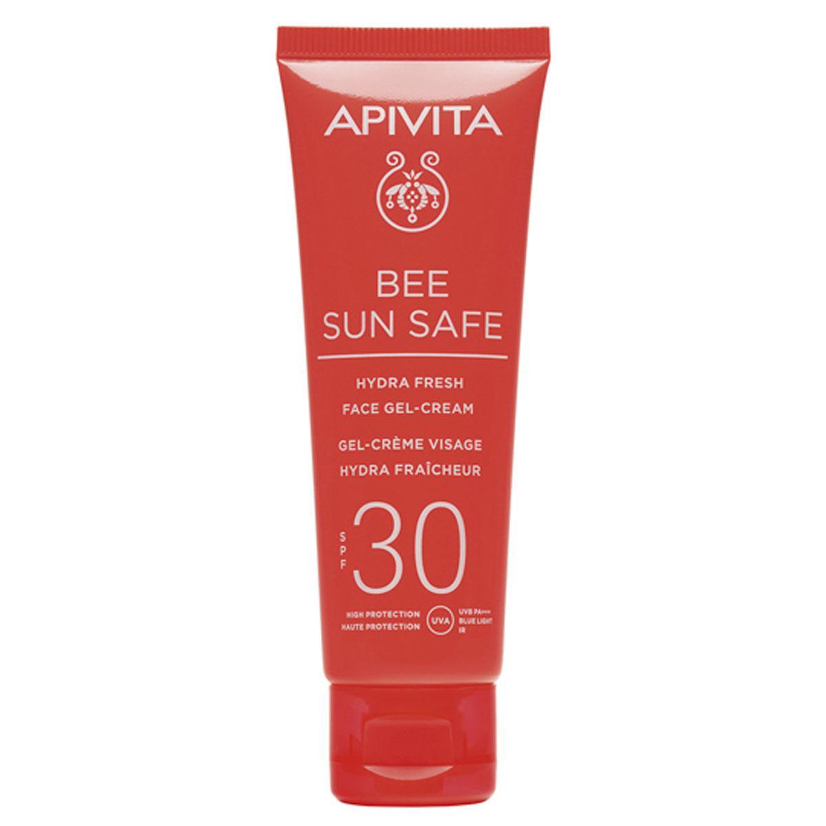 Bee Sun Safe Hydra Fresh Gel-Crème SPF30, Apivita, 17,30 euros, PACKSHOTS: SDP
