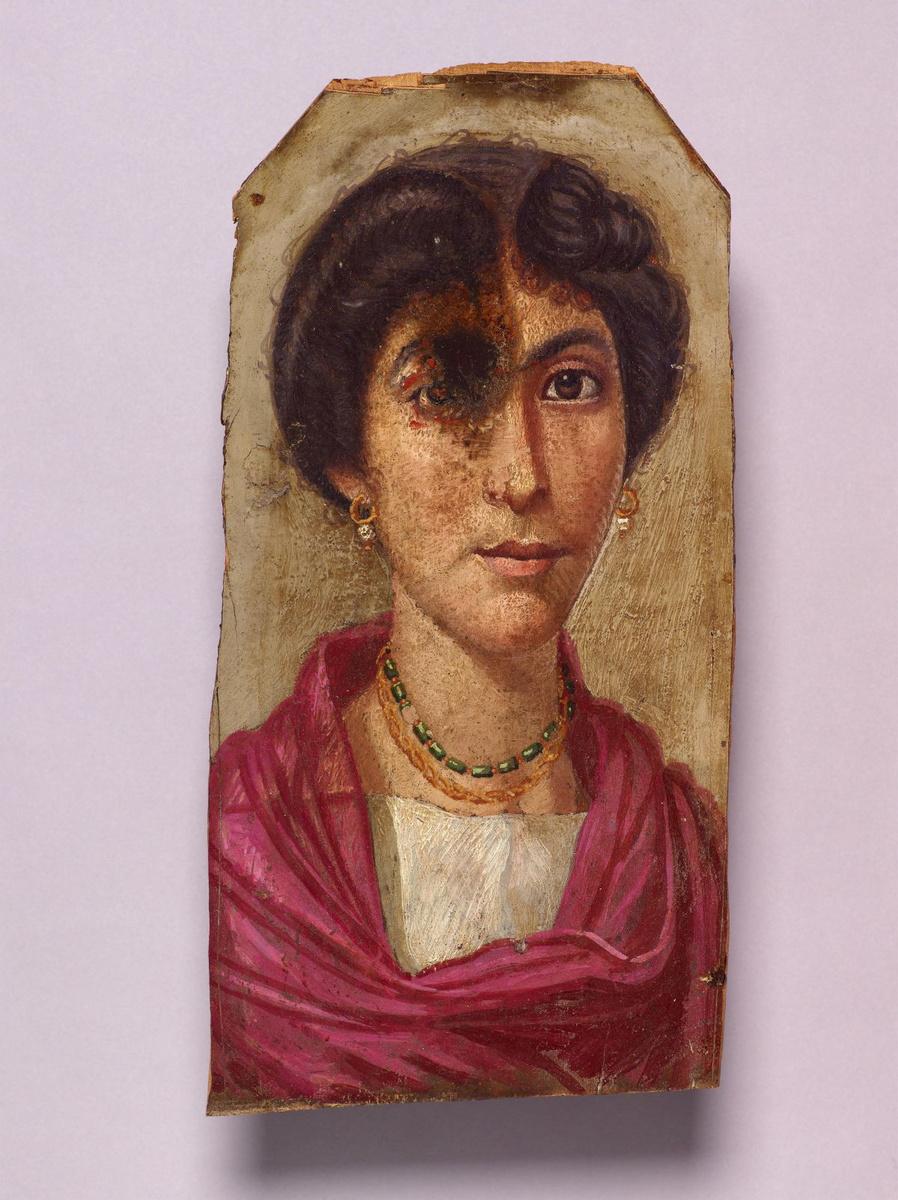 Mummieportret van een vrouw (100-125 n. Chr.), The Trustees of the British Museum