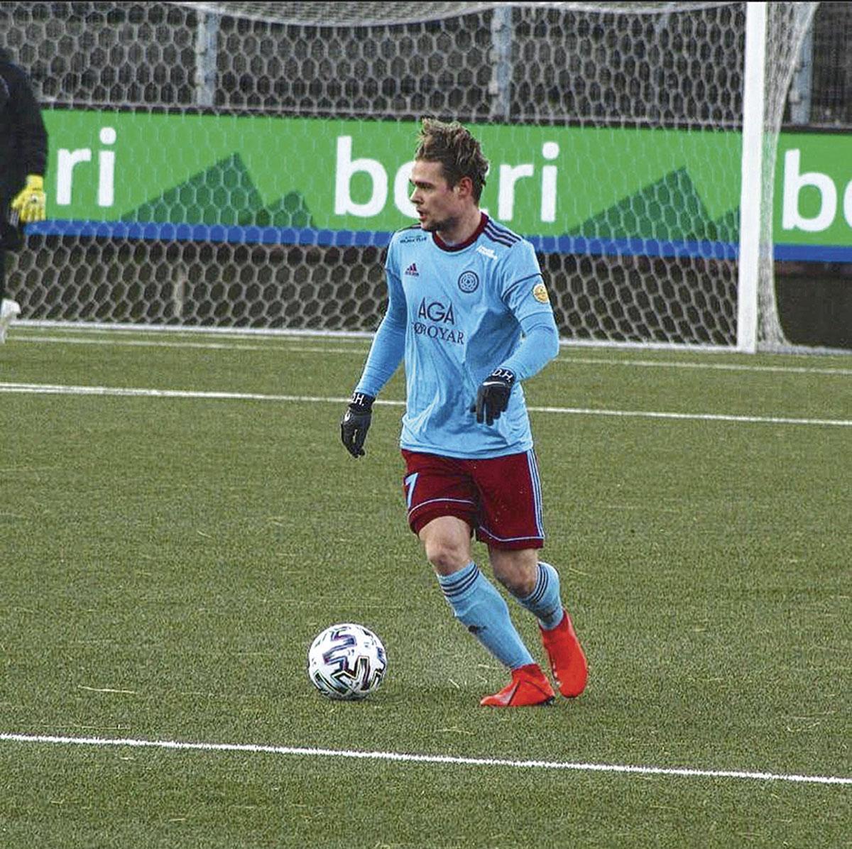 JASPER VAN DER HEYDEN             24 jaar / rechtsbuiten /  AB Argir  (eerste klasse, Faeröer), belgaimage