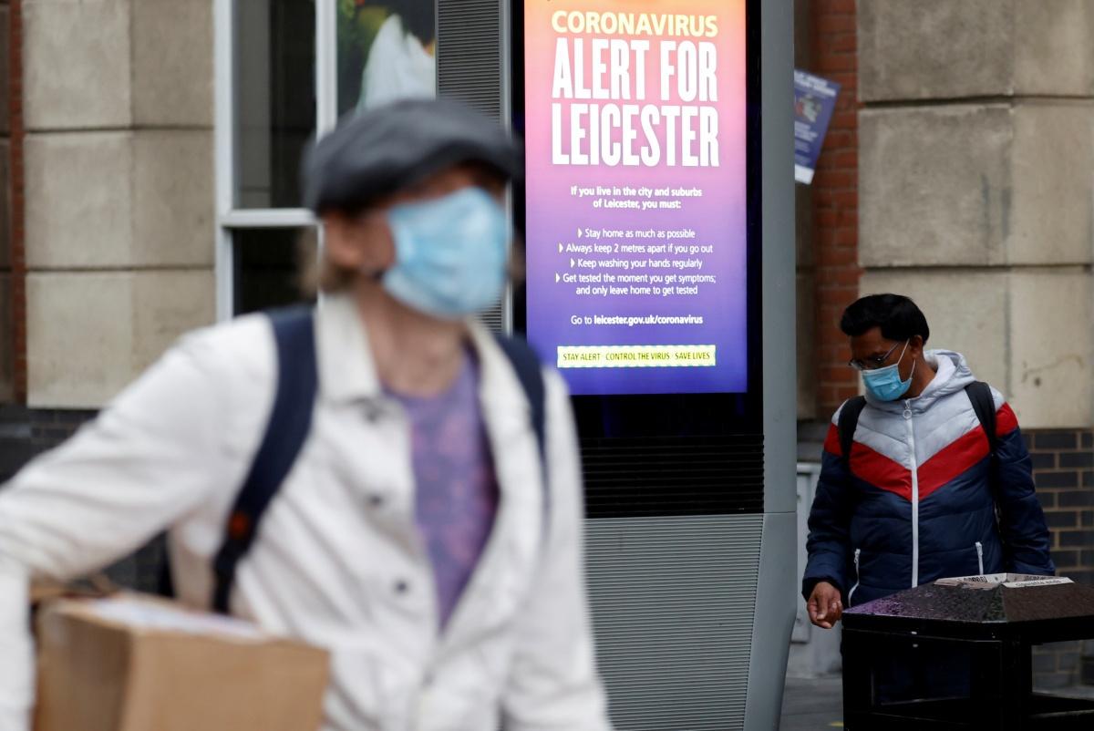 De Britse stad Leicester moest coronamaatregelen opnieuw aanscherpen , Reuters