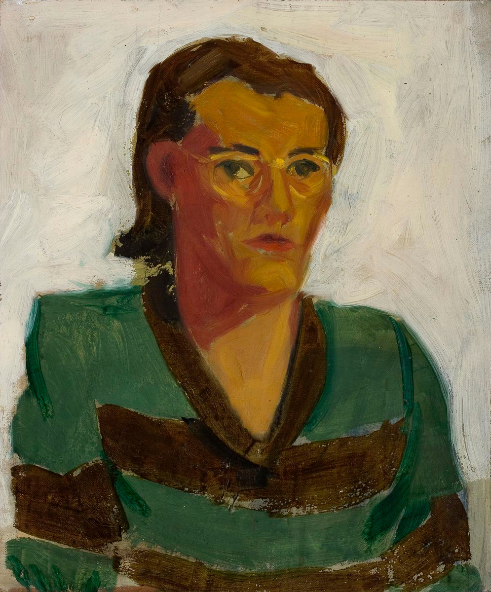 Roger Raveel, Portret van Zulma, 1948-1949, Collectie Vlaamse Gemeenschap/Roger Raveel Museum, Raveel - MDM. Foto: Peter Claeys