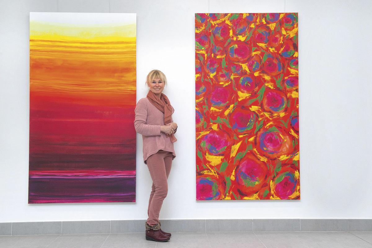 Anne Mariën exposeert in de galerie van het AZ Sint-Maarten in Mechelen., JERRY DE BRIE