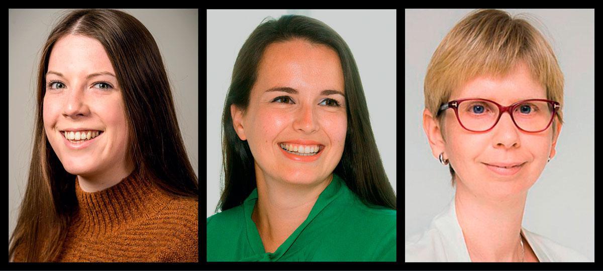 De gauche à droite: Inke Torfs, chercheuse doctorante. Lieselot Danneels, professeur d'e-gouvernance. Ellen Wayenberg, professeur de gestion et d'administration publique.