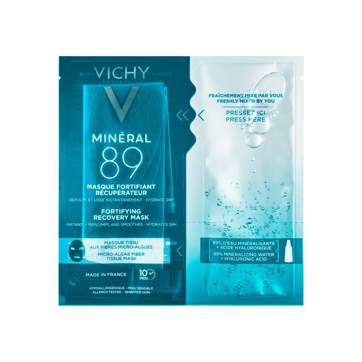 Masque fortifiant réparateur Minéral 89, Vichy, 5,95 euros la pièce (disponible en pharmacie)., SDP