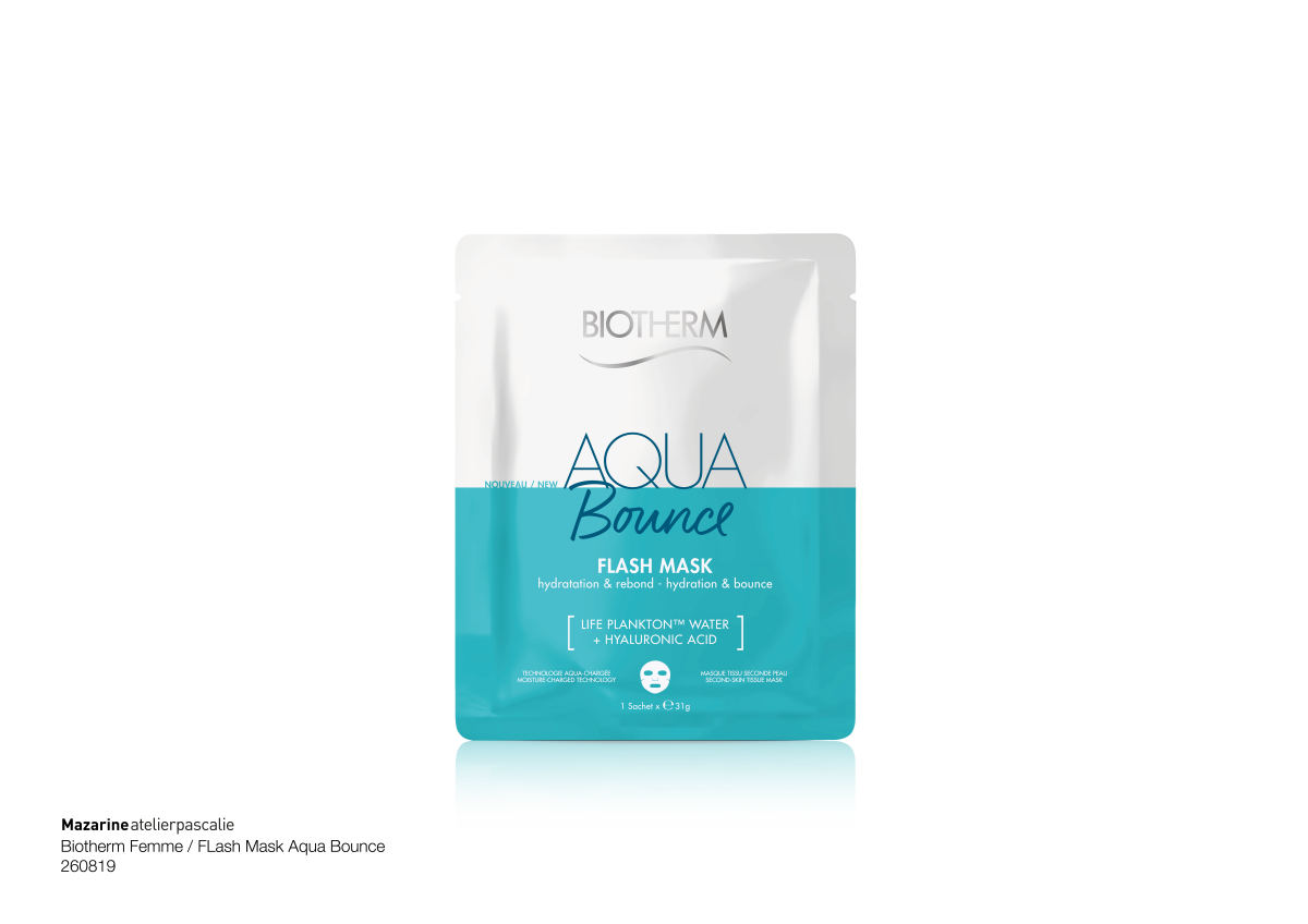 Flash Mask Aqua Bounce, Biotherm, 7,99 euros la pièce., SDP
