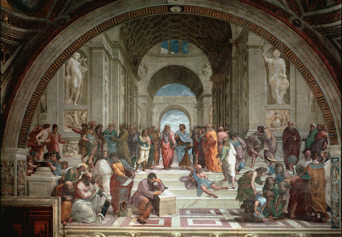 De School van Athene uit 1509, 1510, Getty Images