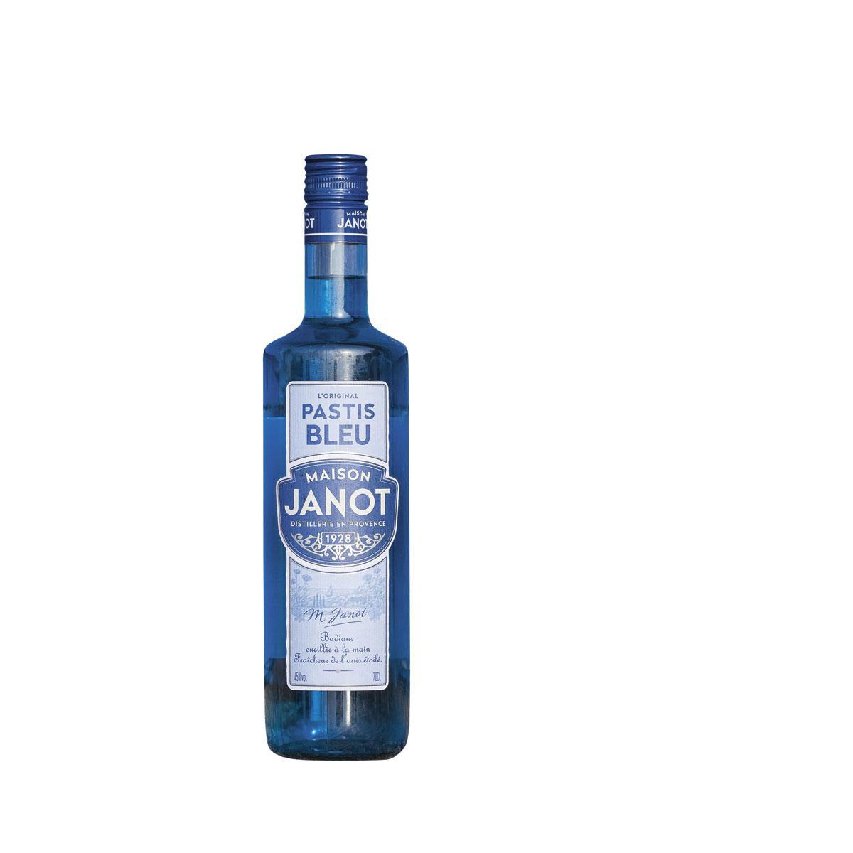 Pour plaire aux plus jeunes, le pastis vire bleu lagon, 15,25 euros les 75cl., GETTY IMAGES / SDP