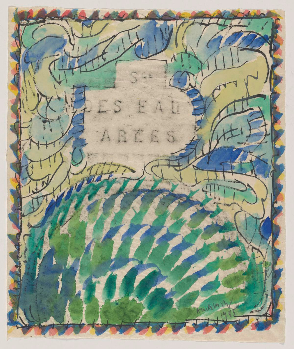 Service des eaux, Arles, Pierre ALECHINSKY (1985). Stempel, Oost-Indische inkt en aquarel op Chinees papier., KMSKB, Brussel / Courtesy of the artist | foto: J. Geleyns - Art Photography