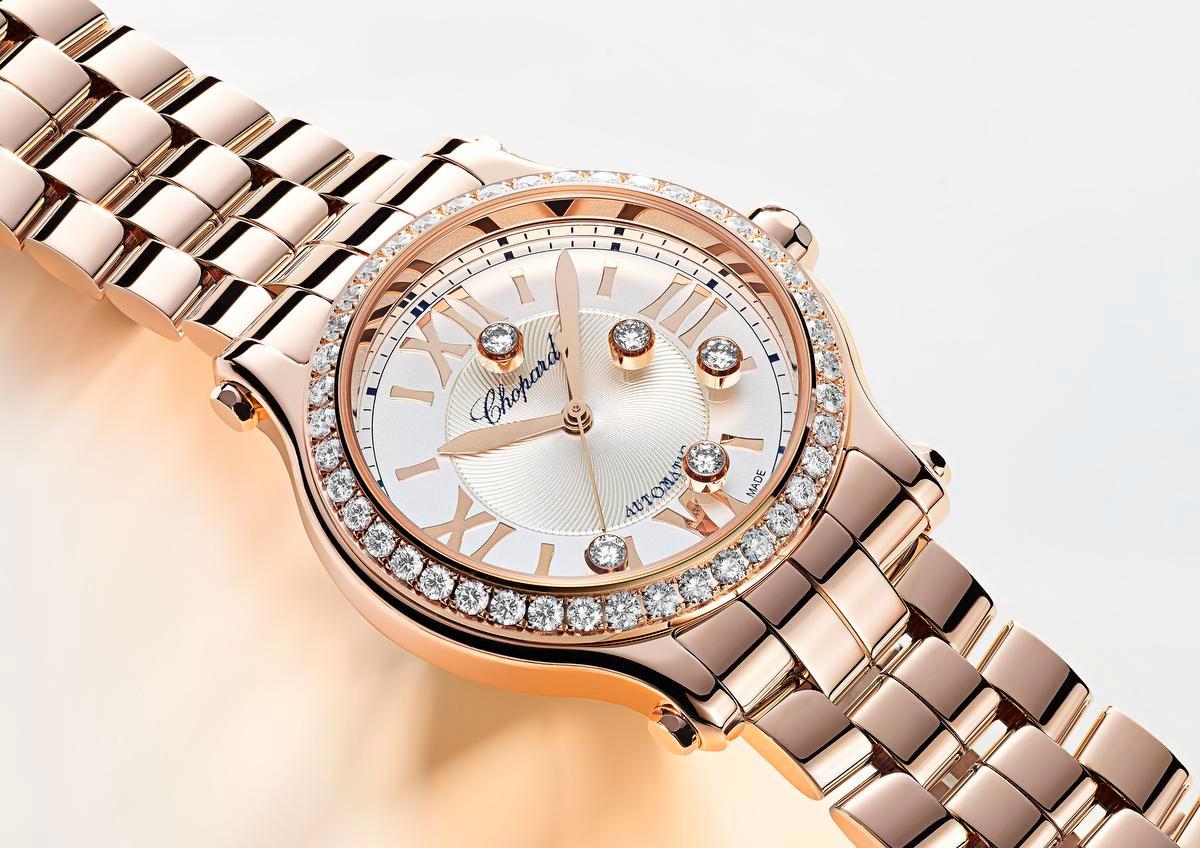 De Happy Sport van Chopard is meteen herkenbaar dankzij de vrij bewegende diamanten., GF / Chopard