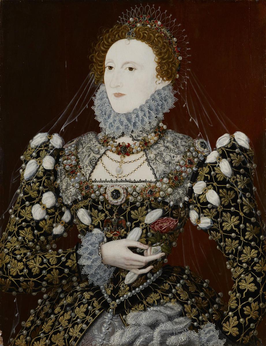 Nicholas Hilliard, Queen Elizabeth I, circa 1575, National Portrait Gallery, Londen