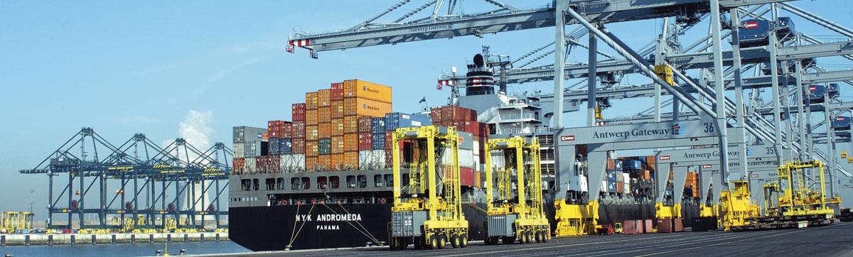 De haven van Antwerpen wil 5G-technologie inzetten op zijn terreinen.