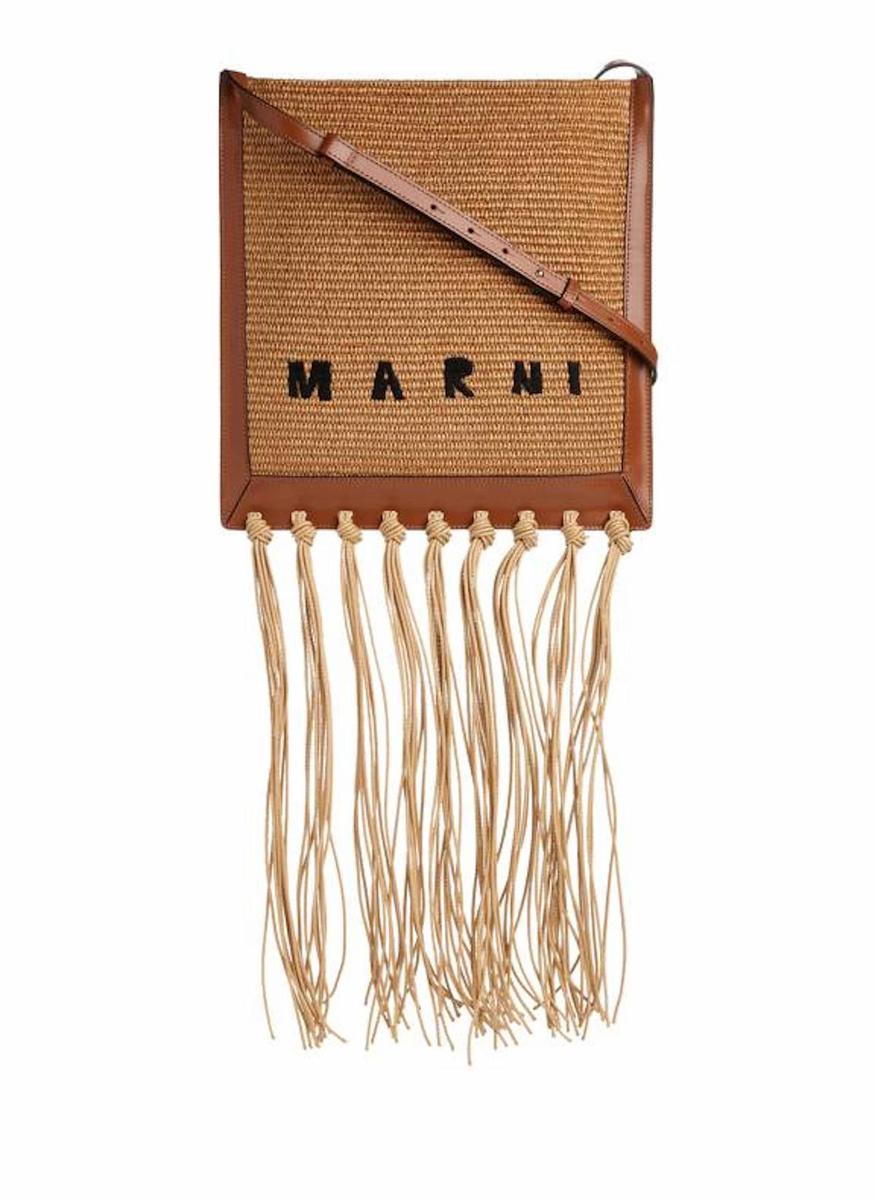 Grand sac en raphia et cuir de veau, Marni, 360 euros, printemps.com, DR