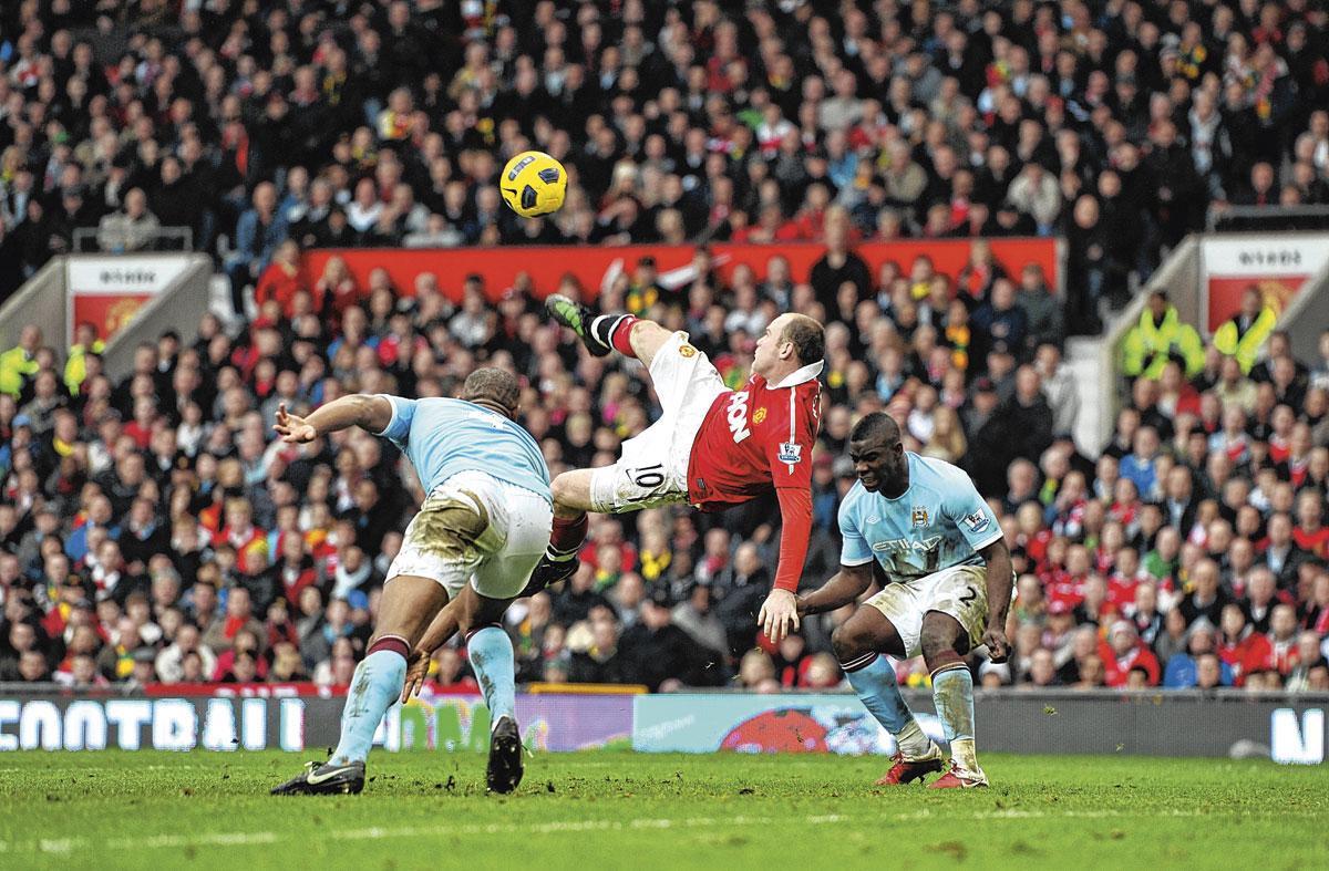 Selon Wayne Rooney, marquer un retourné (en italique) du tibia est encore plus difficile à réaliser !, GETTY