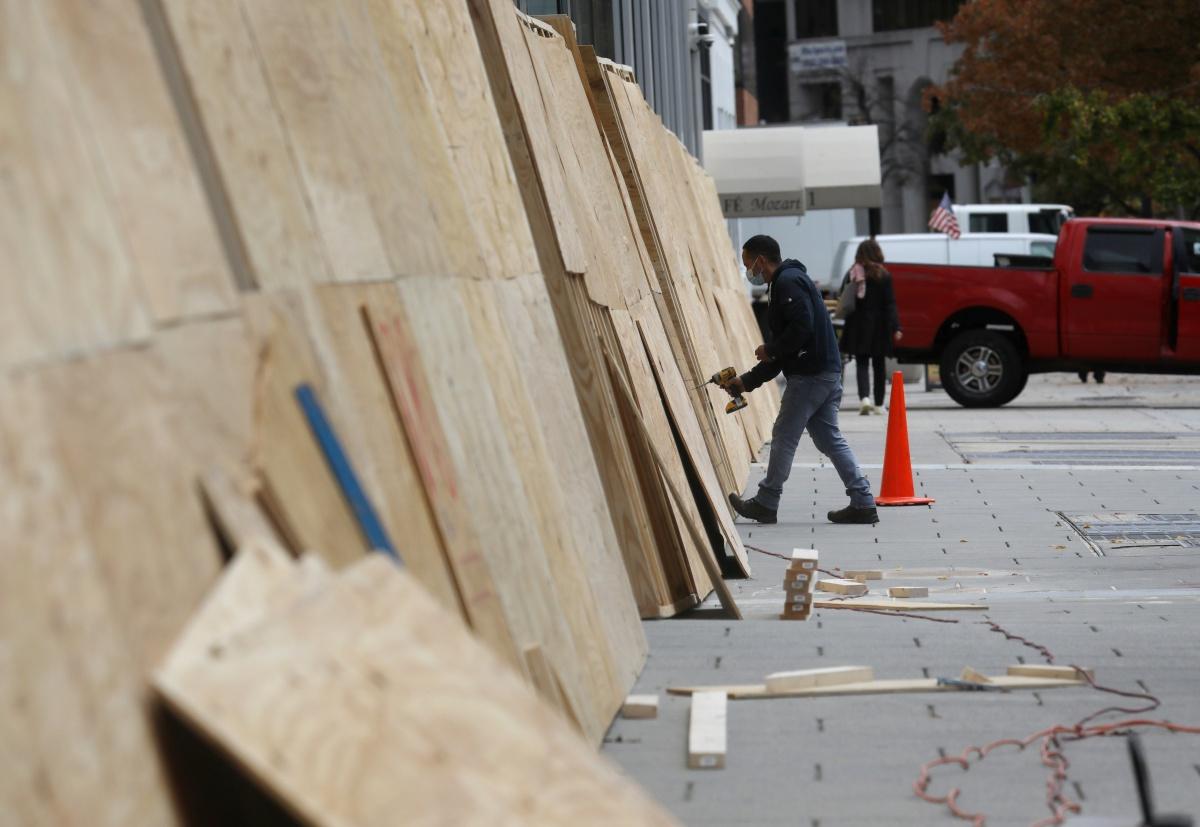 Ook in hoofdstad Washington DC gaan winkels dicht. , Reuters
