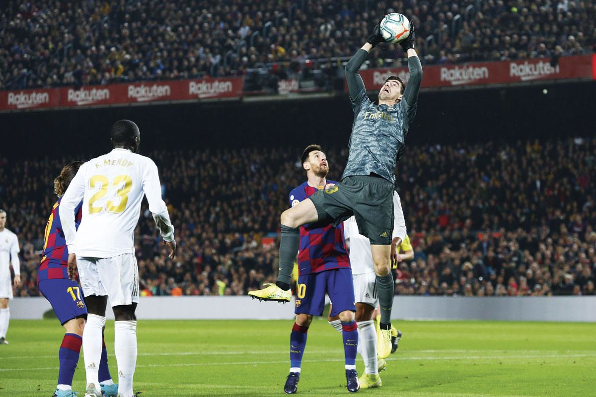 Outre son talent et son professionnalisme, le portier belge bénéficie d'une défense stabilisée par la nouvelle organisation mise en place par Zidane., BELGA