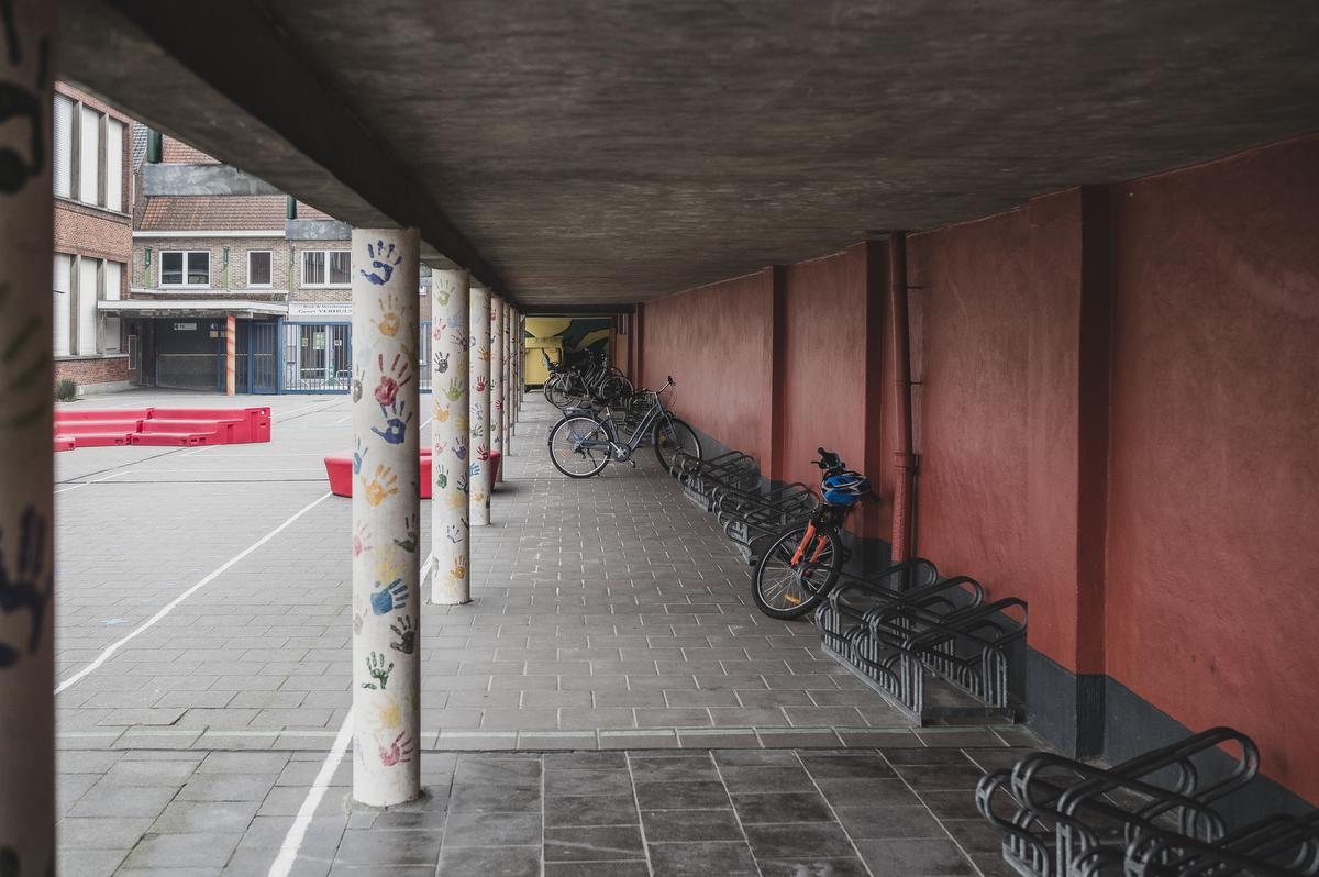 De fietsenstalling blijft zo goed als leeg., Olaf Verhaeghe