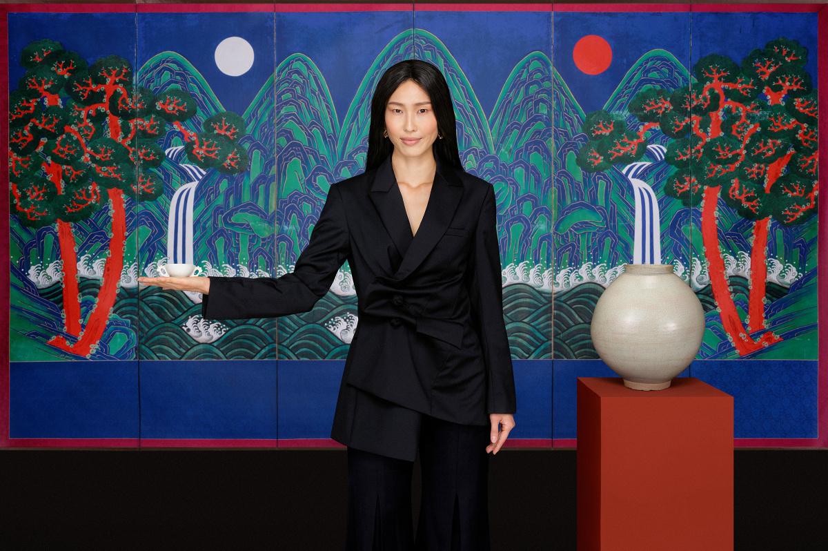Campagnebeeld. Fotografie & concept Anne Claire de Breij. Achtergrond, National Palace Museum of Korea