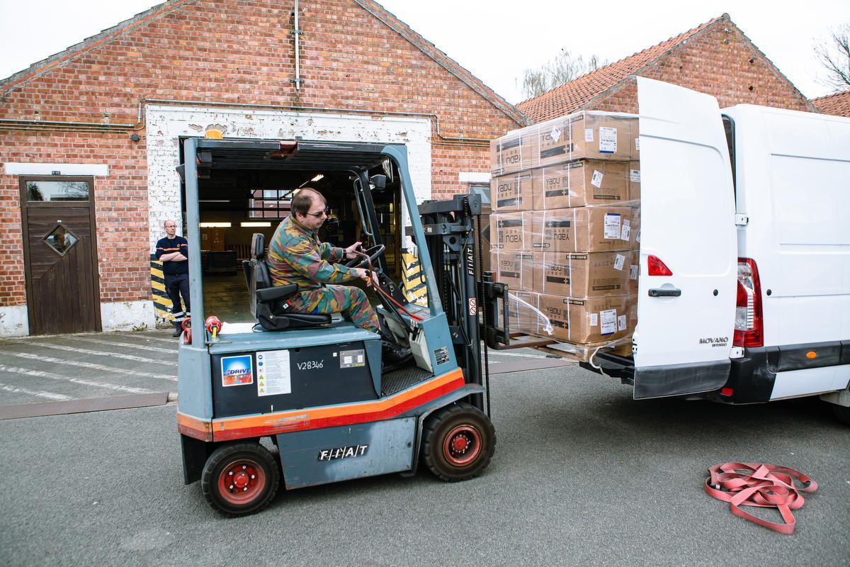 Het militair kwartier in Sint-Kruis is aangeduid als hét verdeelcentrum voor West-Vlaanderen., Davy Coghe