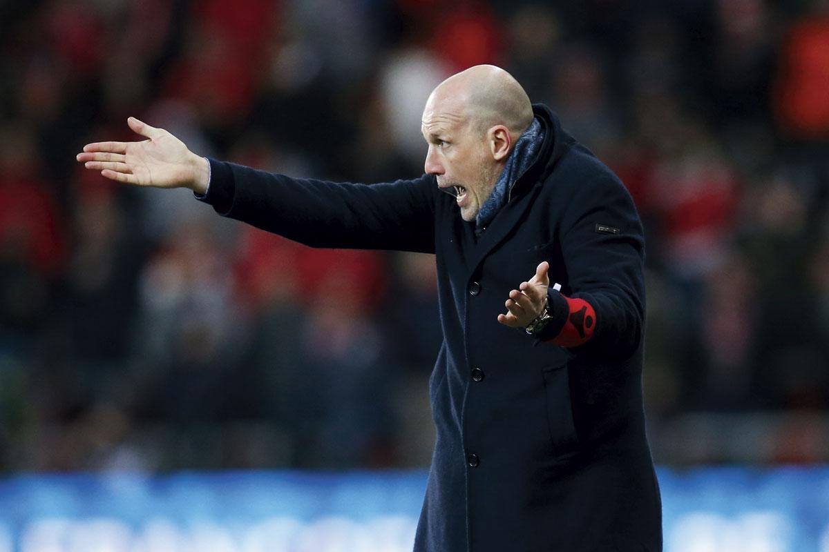 Philippe Clement ontkent dat er sprake is van een dip bij Club Brugge., Belgaimage