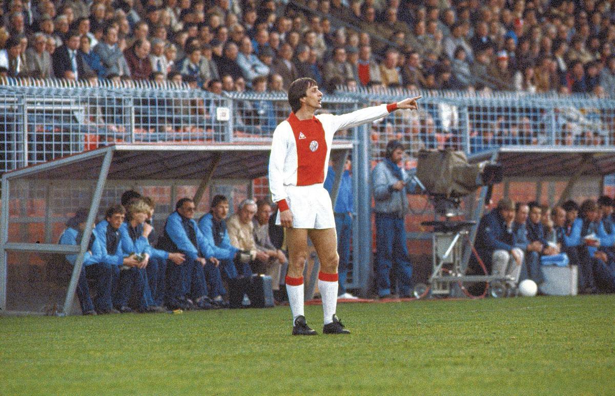 Johan Cruijff lors de son deuxième mandat à l'Ajax, au début des années '80., getty