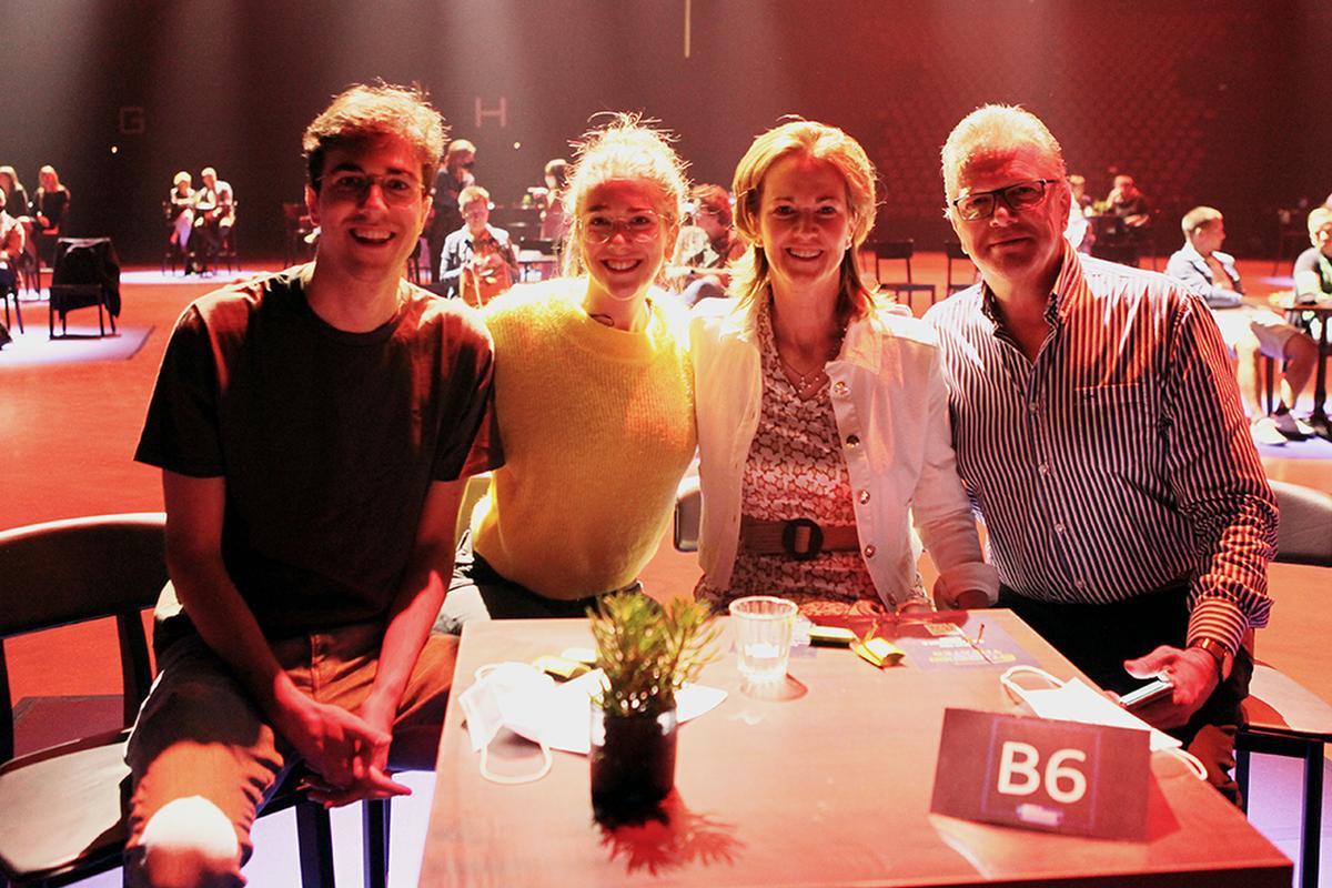 Vier aanwezigen uit Kasterlee., PADI/Daniël
