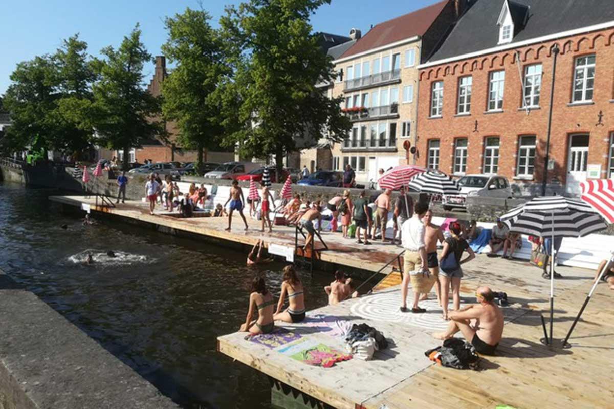 Coupurezwemmen in Brugge, Foto R.V.