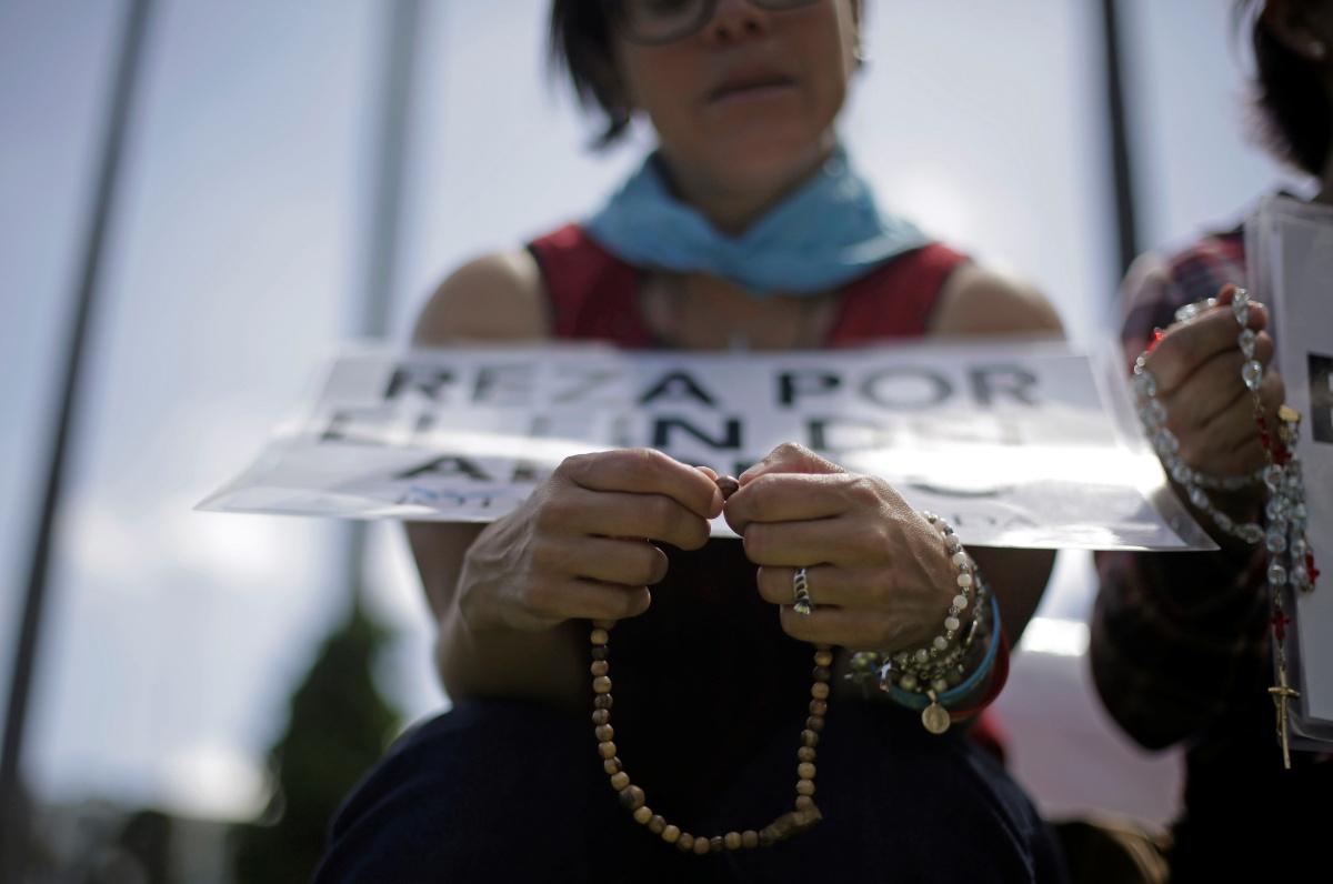 Een betoging tegen abortus in Costa Rica, 25 oktober 2020, Reuters