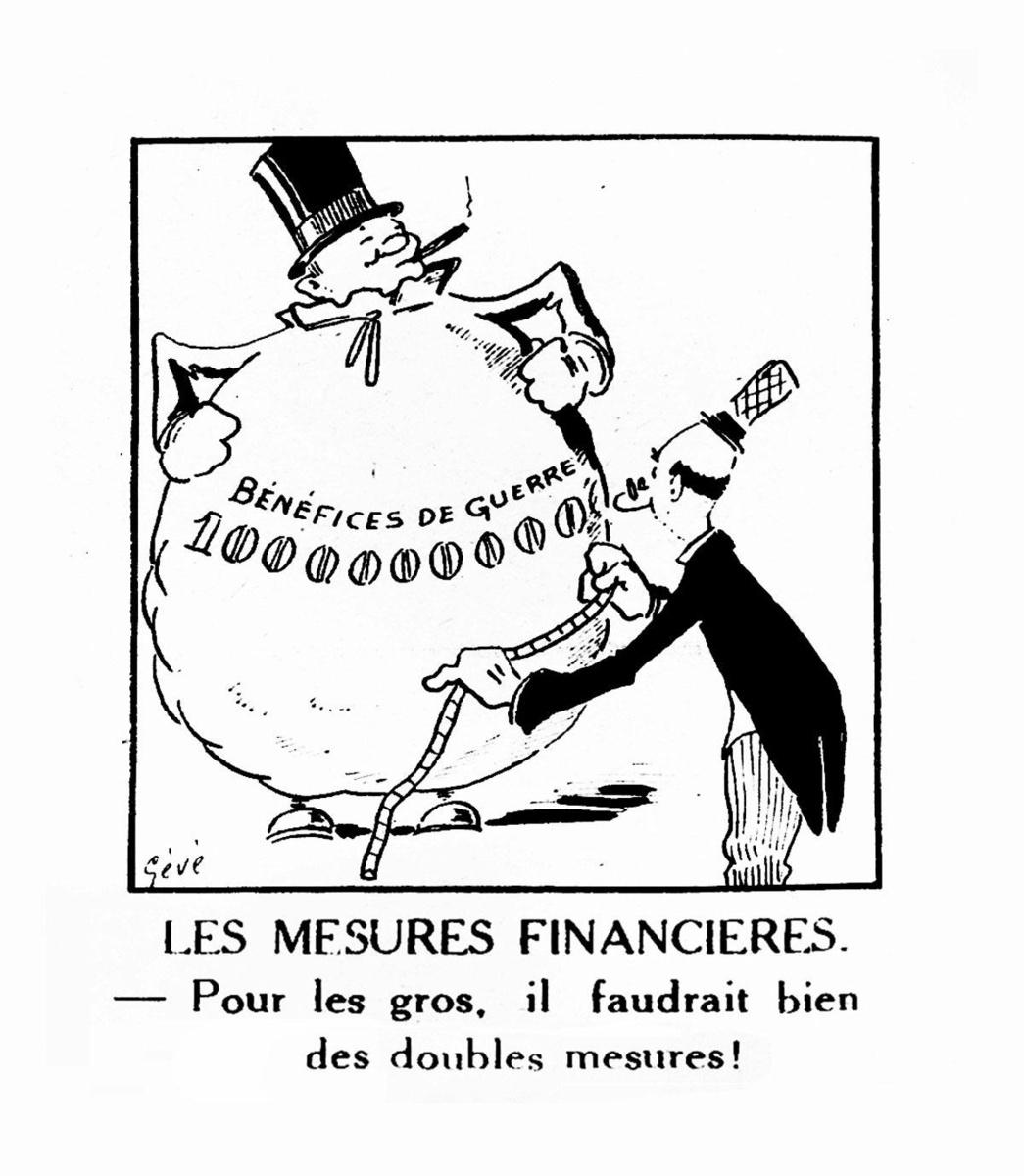 """Caricature de l'Opération Gutt parue dans """"Le Patriote Illustré"""" en octobre ou novembre 1944, SOURCE: SPF FINANCES"""