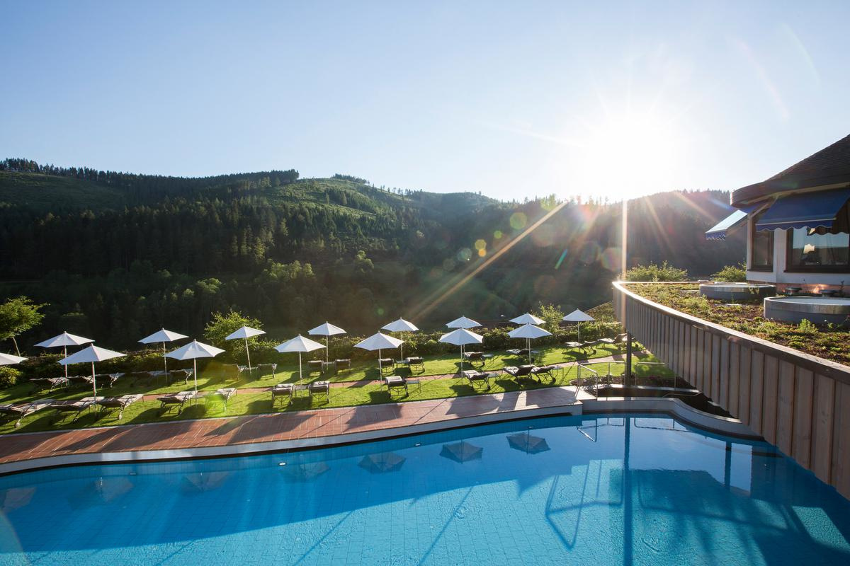 La piscine de l'hôtel Traube Tonbach., Traube Tonbach.