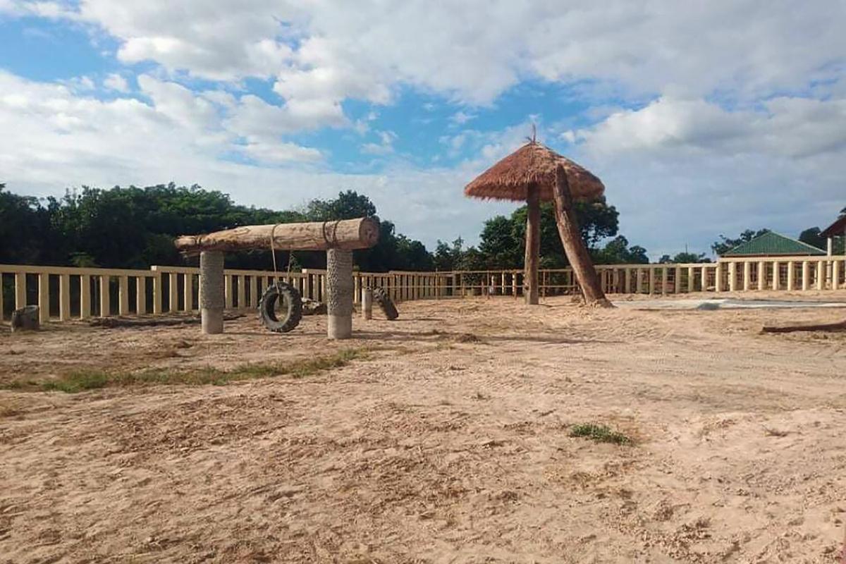 Het nieuwe verblijf van Kavaan: Kulen Prom Tep Wildlife Sanctuary in Cambodja., AFP