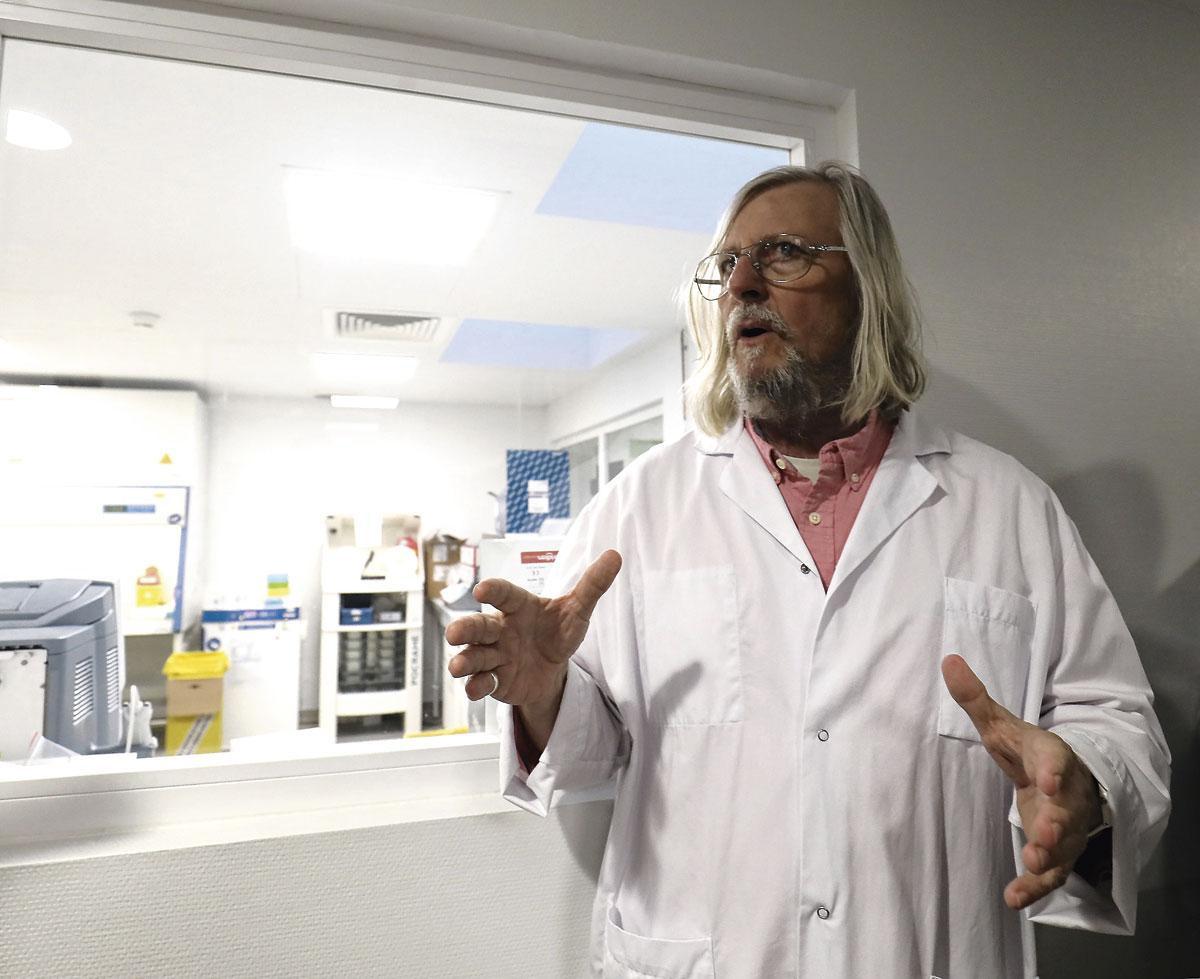 Le professeur Raoult, VALERIE LE PARC/belgaimage