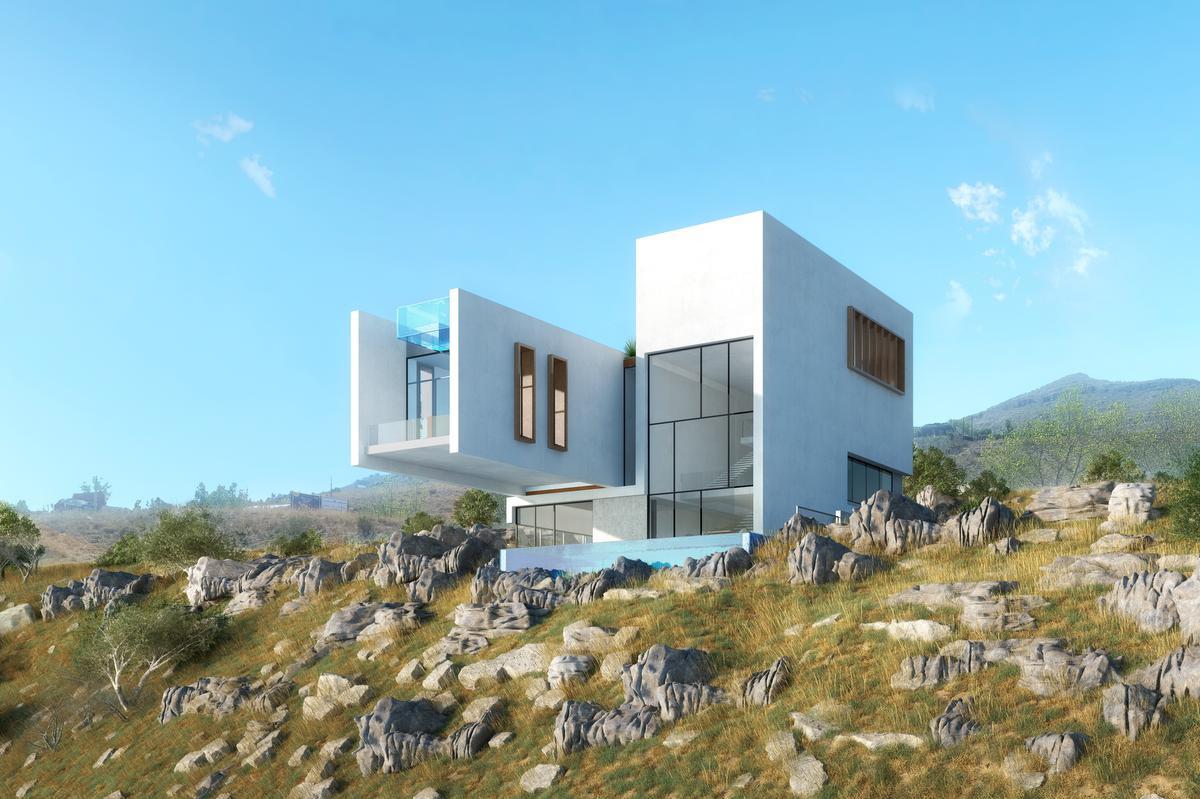 A Faqra, ces villas jumelées entendent s'inscrire dans le relief de la montagne tout en affichant une grande modernité., 4b