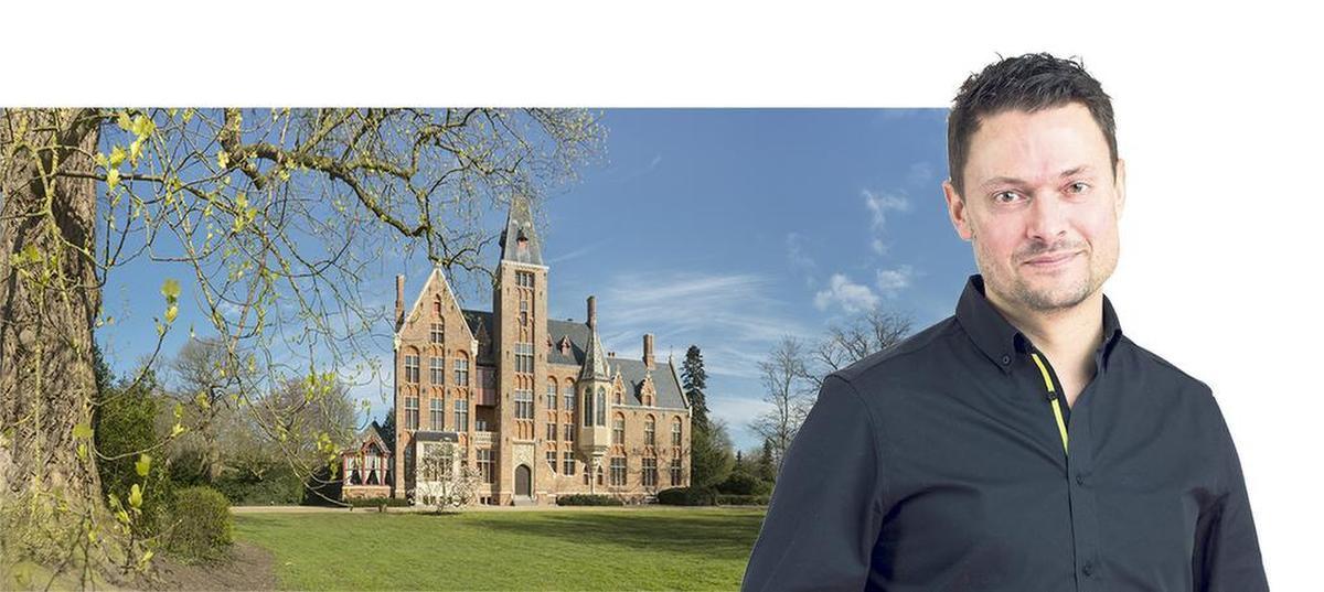 Wetstraatjournalist nodigt prominente politici uit naar het kasteel van Loppem., collage kw/Philippe de FORMANOIR