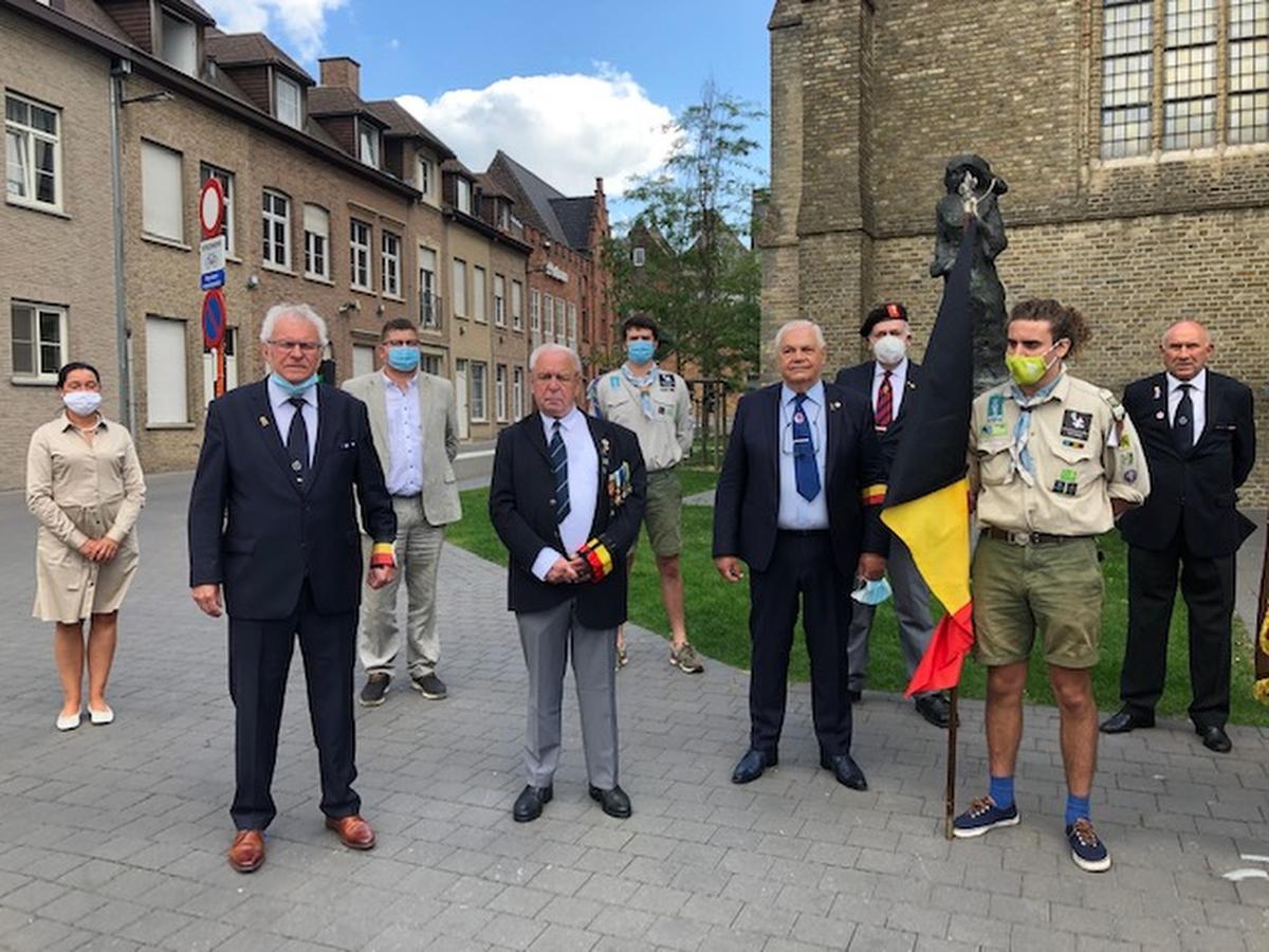 Ook in Roeselare zijn de activiteiten naar aanleiding van de nationale feestdag beperkt gebleven., SB