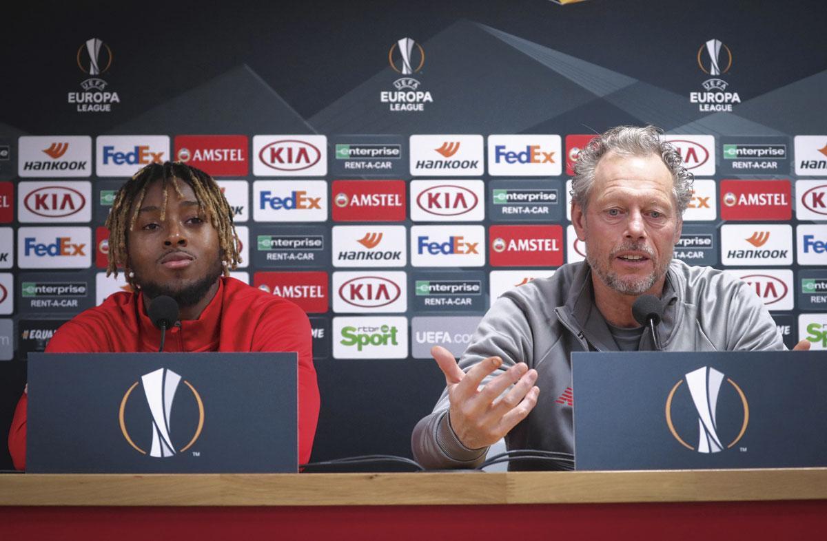 Samuel Bastien, avec Michel Preud'homme, pourrait rapporter quelques millions bien nécessaires au Standard., belgaimage