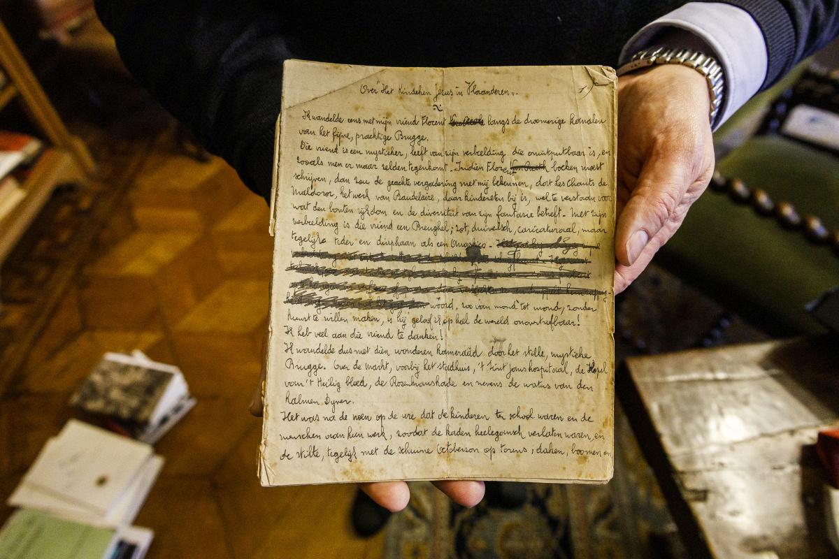 Handschrift van Felix Timmermans over zijn roman Het Kindeken Jezus in Vlaanderen., Victoriano Moreno voor Letterenhuis